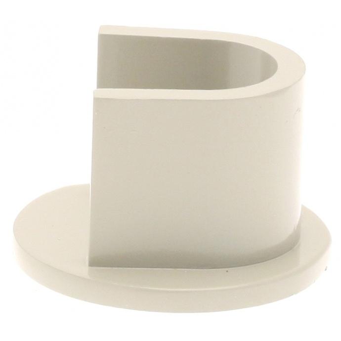 Par de soportes para barra de cortina ø 16 mm (Cromo)