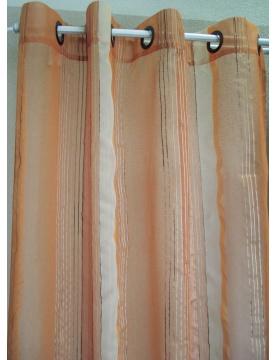 Voilage Organza Fantaisie fines rayures verticales