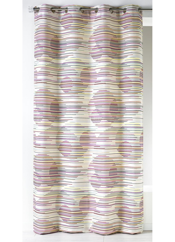 Rideau en jacquard fantaisie et graphique  (Multicolore)