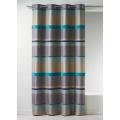 Rideau en jacquard à rayures horizontales design (Bleu)