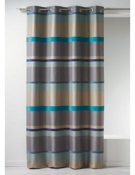 Rideau en jacquard à rayures horizontales design