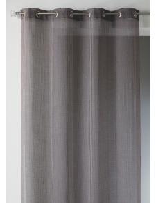 Visillo en estameña a rayas verticales tono sobre tono
