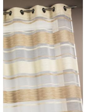 Visillo en jacquard rayas horizontales