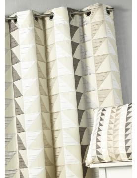 Rideau en jacquard imprimés triangulaires