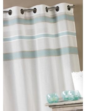 Voilage en étamine avec rayures horizontales