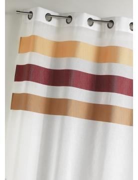Voilage en étamine fantaisie à rayures horizontales