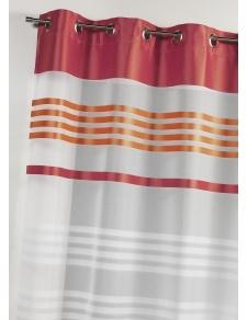 Voilage en étamine légère avec rayures horizontales