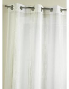 Voilage fantaisie à rayures verticales tissées