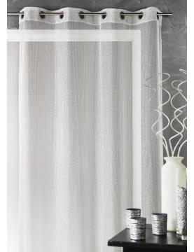 Visillo liso con hilos en lurex