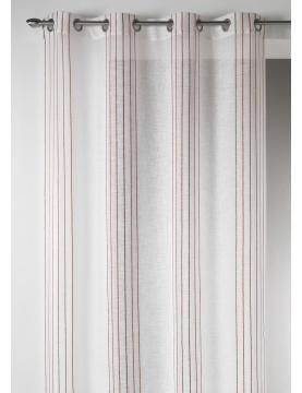 Visillo Diseño en Estameña con Rayas Verticales