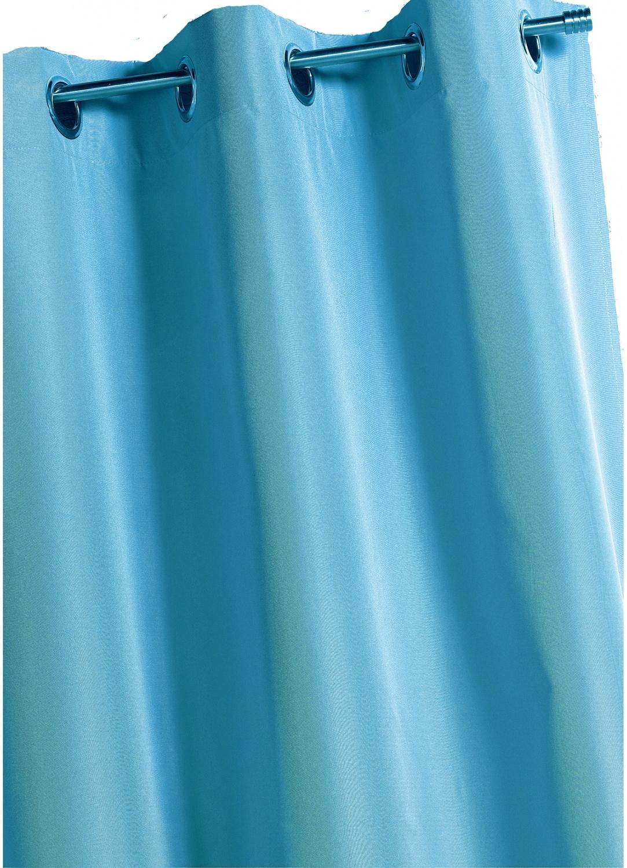 Rideau uni à doublure envers gratté (Aqua)