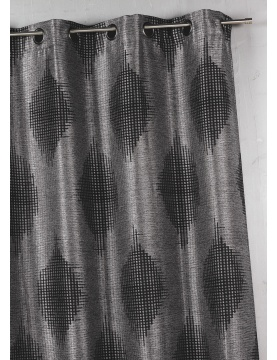 Rideau Bouchara en jacquard à imprimés