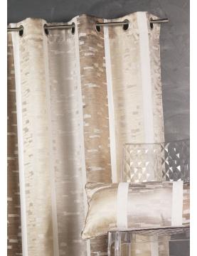 Cortina en jacquard diseño con rayas verticales