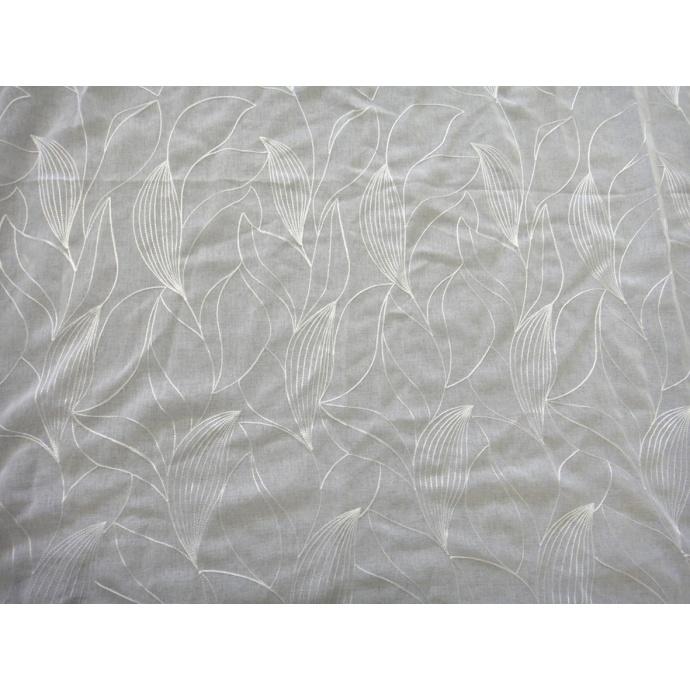 Voilage en étamine à imprimés fleuris  (Blanc)