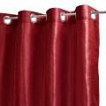 Rideau Uni en Etamine à Aspect Soie (Rouge)