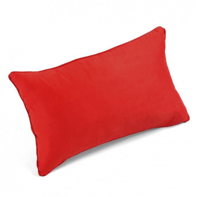Coussin Uni en Suédine rectangulaire (Rouge)