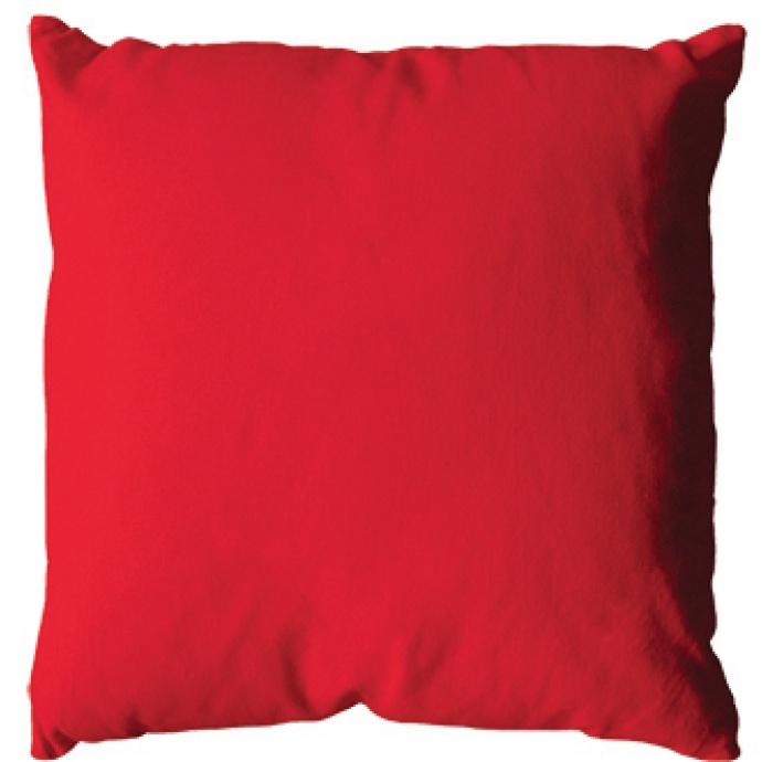 Coussin uni en polyester (Rouge)