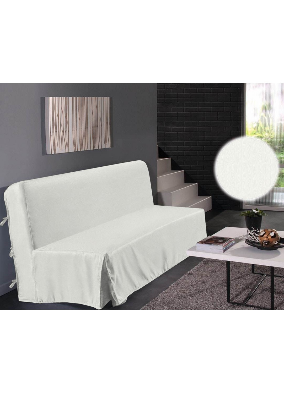housse de clic clac unie blanc noir rouge taupe. Black Bedroom Furniture Sets. Home Design Ideas