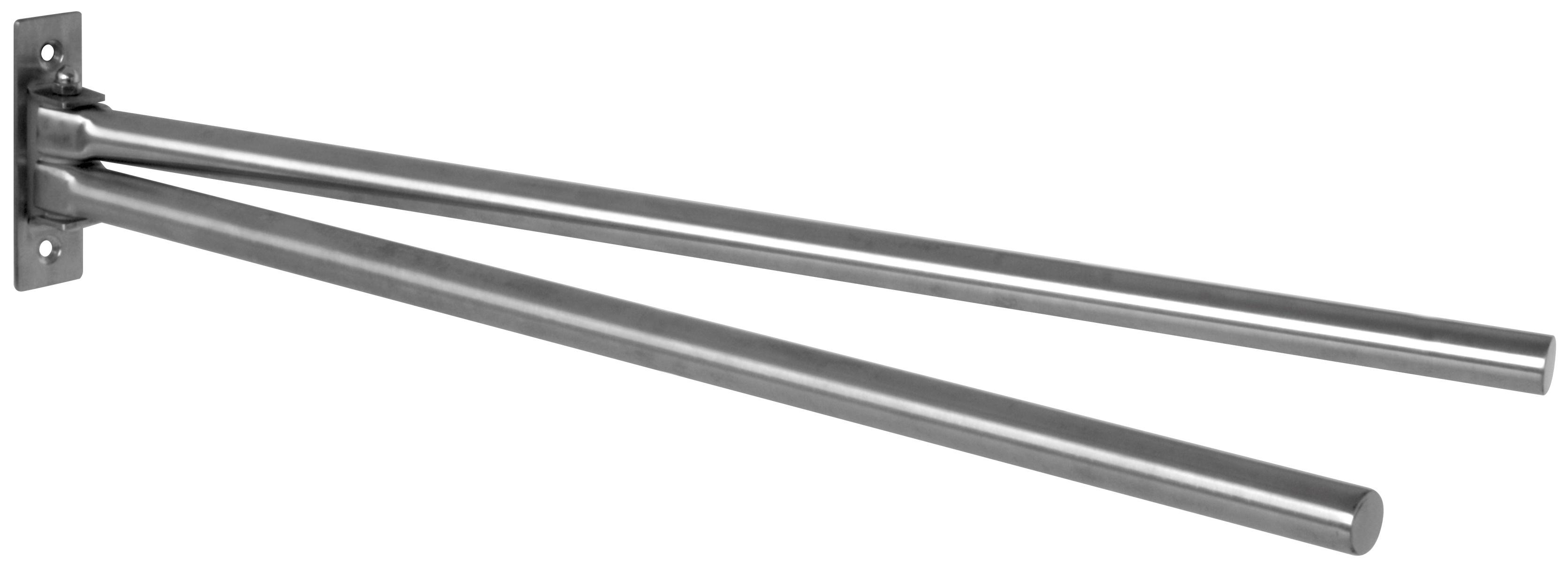 Porte serviettes à 2 barres mobiles finition Inox Brossé (Inox)