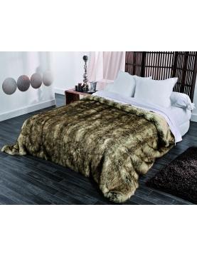 Colcha de cama piel falsa Grizzly