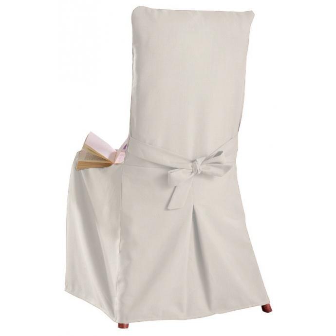 Housse de Chaise au toucher coton (Ecru)