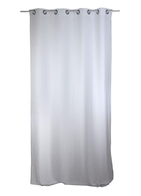Rideau Uni en Lin lavé (Blanc)