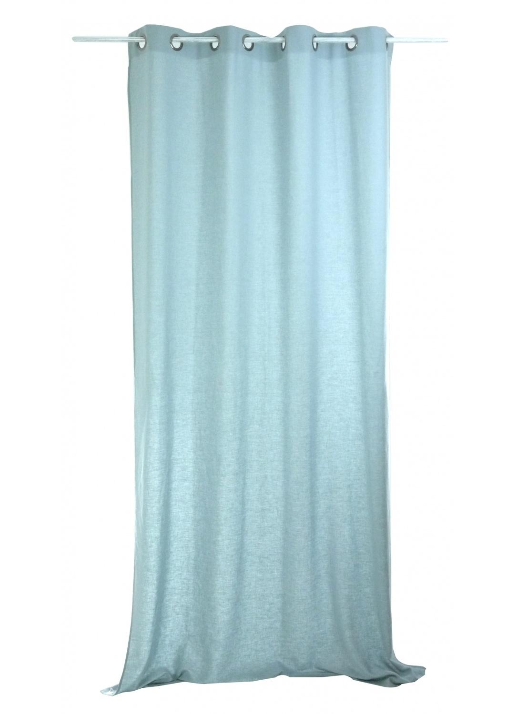 Rideau Uni en Lin lavé (bleu poudré)
