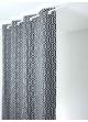 Rideau en jacquard à imprimés géométriques  noir et gris