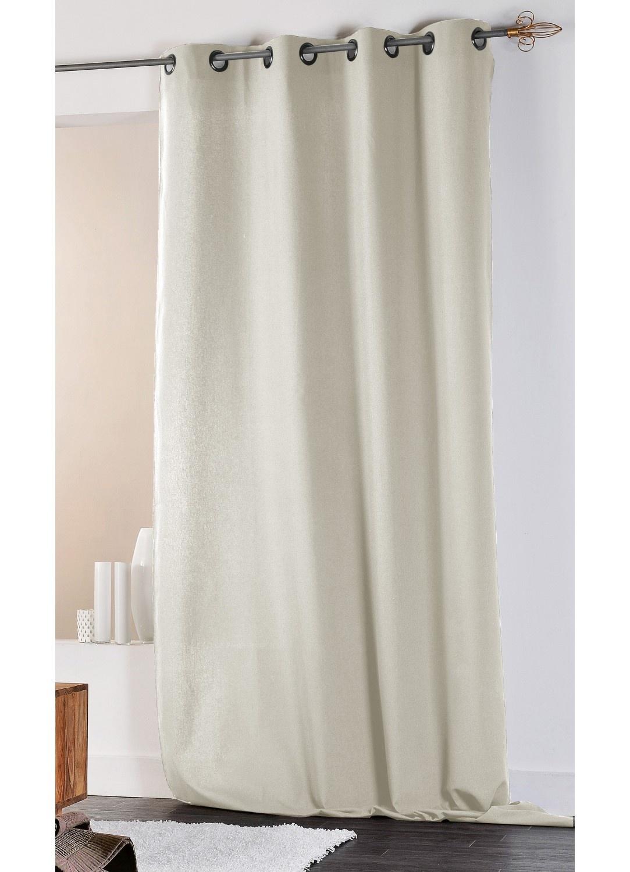 rideau en coton et lin uni xxl ecru lin gris homemaison vente en ligne rideaux. Black Bedroom Furniture Sets. Home Design Ideas
