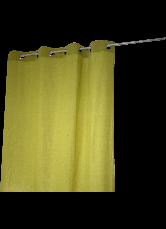 Rideau Coton Uni 'Pipa' (Anis)