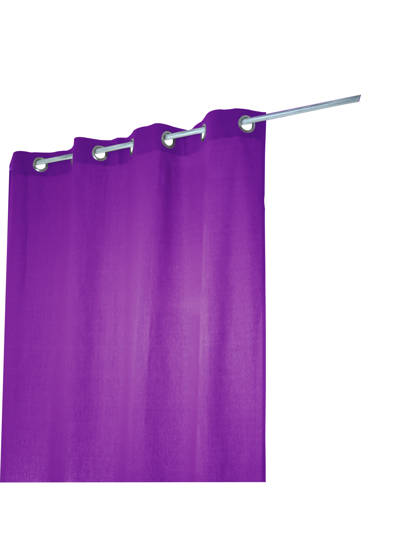 Rideau Coton Uni 'Pipa' (Violet)