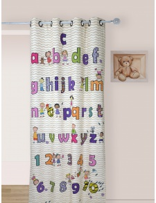 Rideau Enfant en Toile Légère Multicolore