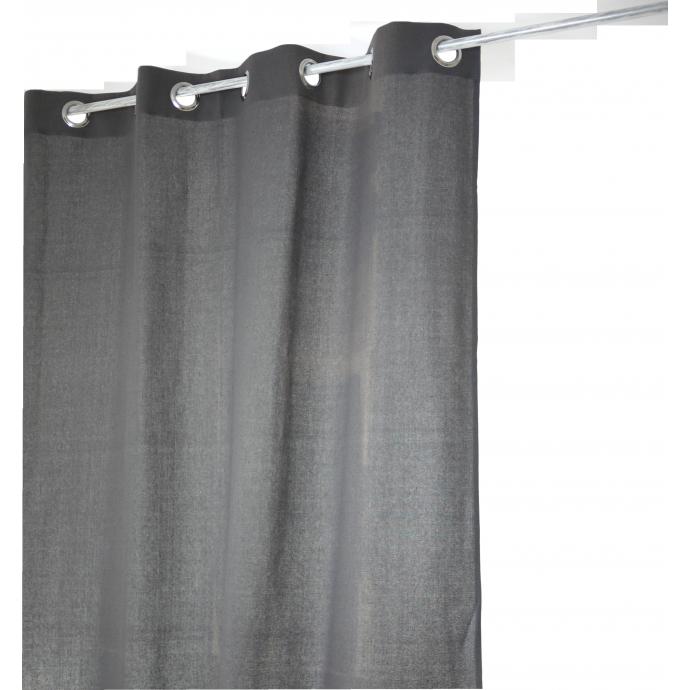 Rideau Coton Uni 'Pipa' (Gris)