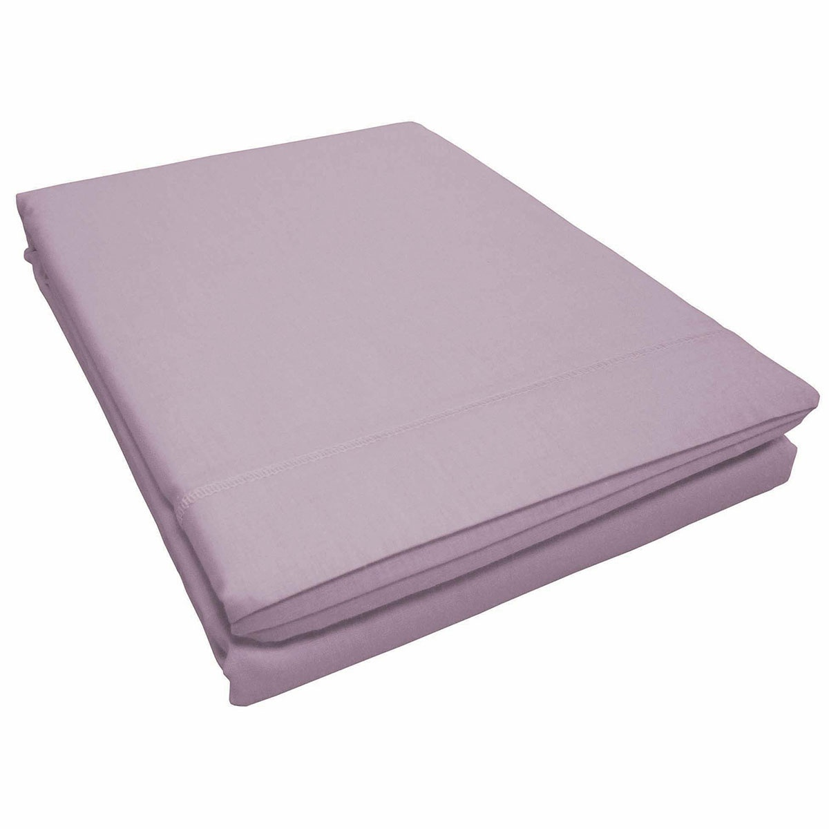 Drap plat uni avec point bourdon