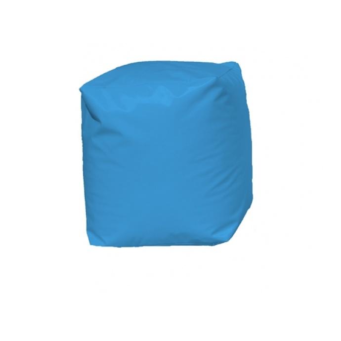 Pouf Cube Bleu (Bleu)
