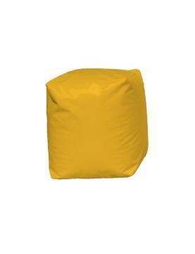 Pouf Cube Jaune