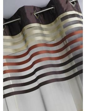 Vorhang aus Organza mit Streifen