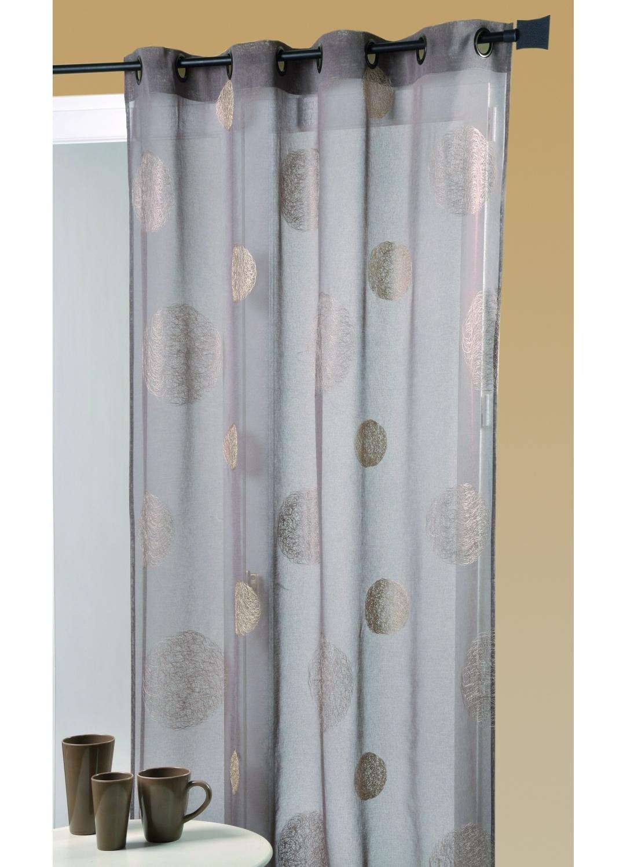 voilage taupe gris. Black Bedroom Furniture Sets. Home Design Ideas