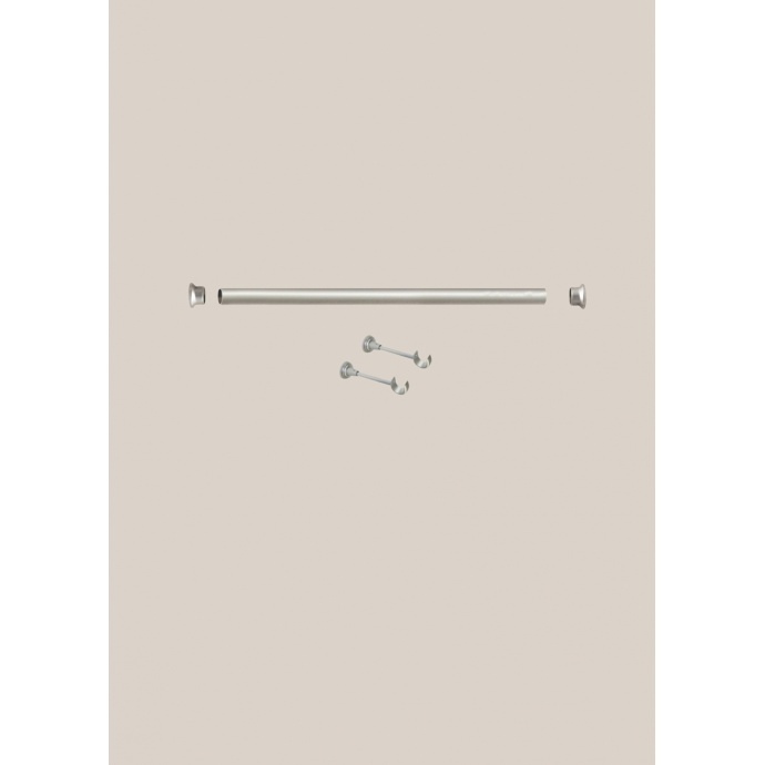 Kit de Tringle 2 m nickel matt diam 28mm (Nickel)