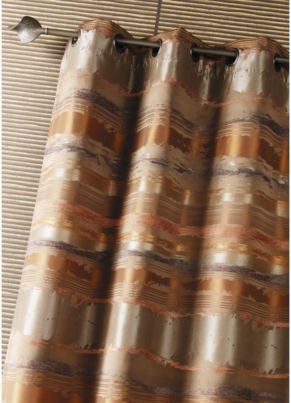 Double Rideau ameublement Jacquard rayés (Moka)
