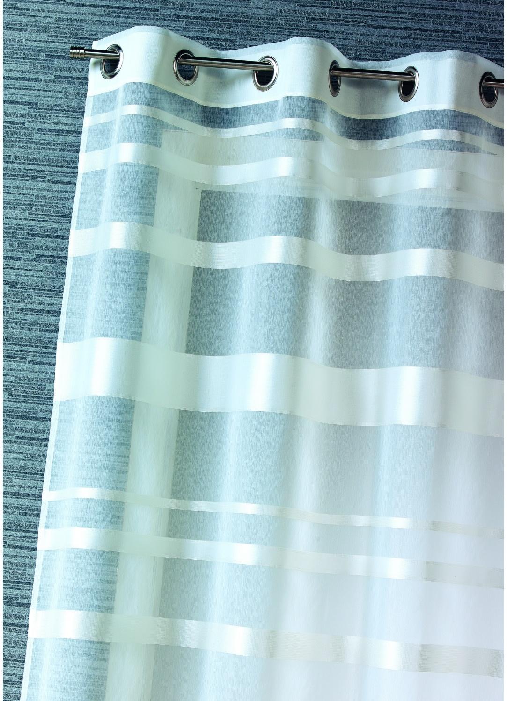 Voilage rayures horizontales (Blanc)
