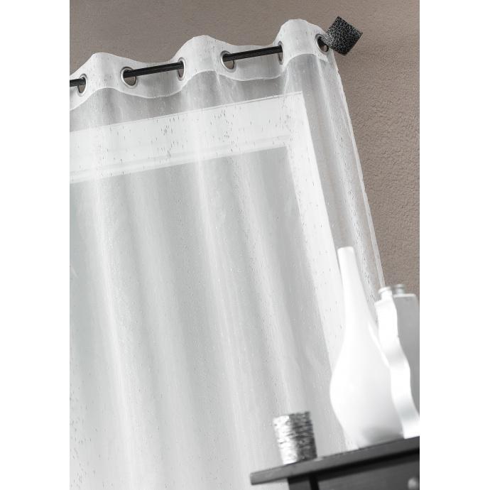 Fertigvorhang aus Metall Tropfen (Weiß)