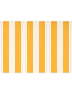 Toile de store banne Dickson col rayures blanc jaune