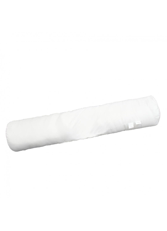 Traversin uni confort en polyester 140 cm (Blanc)
