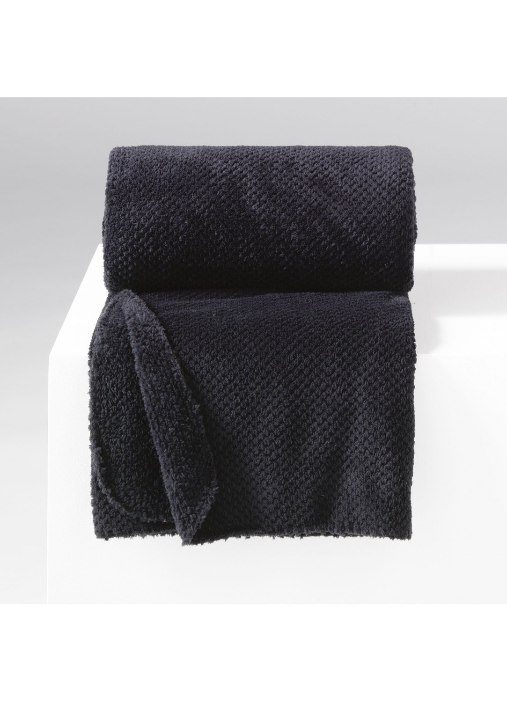 jet de canap uni en flanelle jacquard noir rouge lin naturel brique homemaison. Black Bedroom Furniture Sets. Home Design Ideas