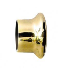 Par topes Dorados para barra de cortina 28 mm