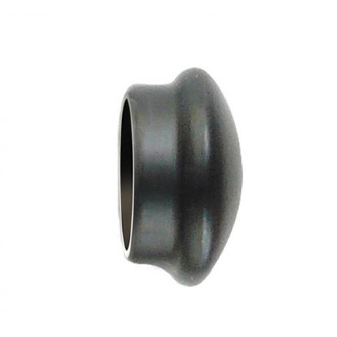 Paire d'Embouts en Fer Forgé Noir pour barre Ø 28 mm (Noir)