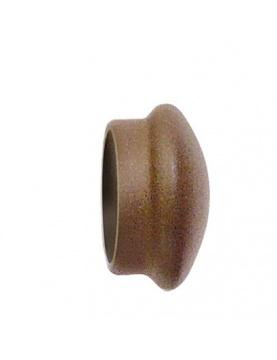 Paar Ansatzstücke aus Rosteisen für Stangen mit Ø 28 mm