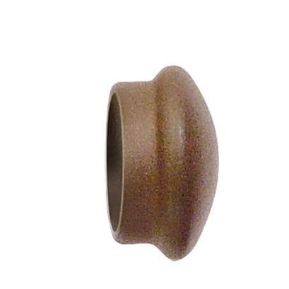 Paire d'Embouts en Fer Forgé Rouille pour barre Ø 28 mm (Rouille)