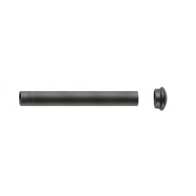 Tube nu diam 28 mm en Fer Forgé Noir 1 m 50 (Noir)